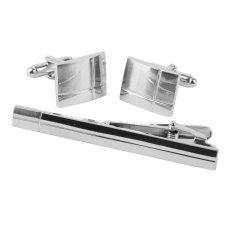 Bolehdeals Fashion Mens Silver Copper Cross Cufflinks Tie Clip Clasp Bar Pin Gift Set By Bolehdeals.