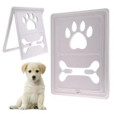 Bone Handprint Plastic Pet Dog Cat Door for Screen Window Gate(White) -  intl Philippines