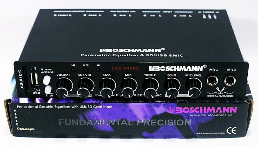 BOSCHMANN 7 BAND PARAMETRIC CAR EQUALIZER WITH SUBWOOFER