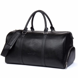 BOSTANTEN Genuine Cowhide Leather Travel Weekender Overnight Duffel Bag Luggage Bags For Men Travel Bags For Suits(Buy one get one freebie) - intl