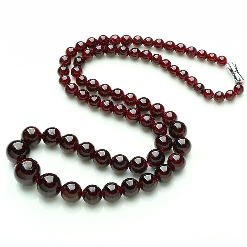 Mode Untuk Wanita Kalung Garnet Alam Nyata 5-12 Mm Manik Rantai Menara Baru Perhiasan Populer By Carving Life.