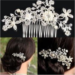 Bridal Wedding Flower Hair Clip