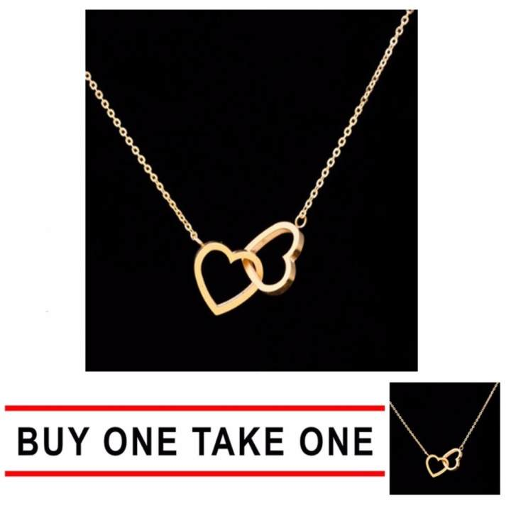 Buy One Take One 14k Luxury Gold Twin Heart Necklace