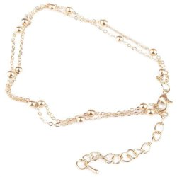 BUYINCOINS Chic Gold Double Chain Anklet Bracelet Ankle Foot Jewelry Barefoot Beach Anklet