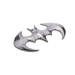Buytra 3D Bat Shaped Car Sticker carbon fiber Black