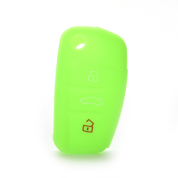 Buytra Car Key Case Cover Silicone For Audi A3 A4 A6 Tt Q7 R8 Green