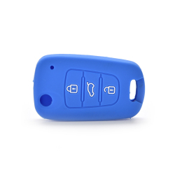 Buytra Car Key Case Cover Silicone For KIA Dark Blue