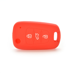 Buytra Car Key Case Cover Silicone For KIA Red