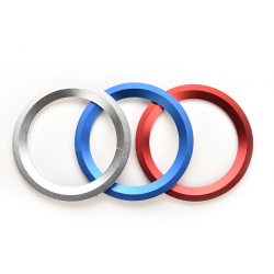 Buytra Car Steering Wheel Center Ring Cover Decoration For BMW Blue