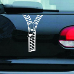Buytra Car Stickers Creative Zipper White
