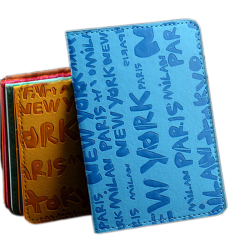 Buytra Cartoon Passport Holder Leather Blue