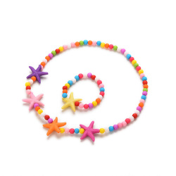 Buytra Kids Necklace Acrylic Colorful Star Fish