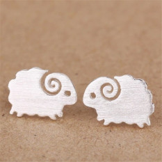 Buytra One Pair Charm Silver Plated Sheep Earrings For Women Ears Stud Fine Jewelry Silver