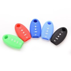 Buytra Silicone Key Case Cover For Nissan Key 5 Button Green