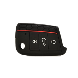 Buytra Silicone Key Cover fit for VW VOLKSWAGEN Golf 7 GTI Black