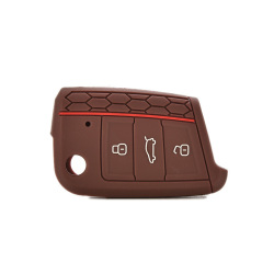 Buytra Silicone Key Cover fit for VW VOLKSWAGEN Golf 7 GTI Coffe