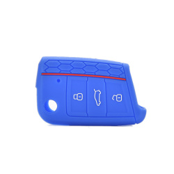 Buytra Silicone Key Cover fit for VW VOLKSWAGEN Golf 7 GTI Sea Blue