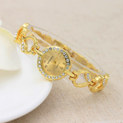 Women's Rhinestone Heart-shape Alloy Bracelet Watch