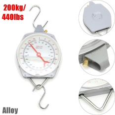 Capacity 200Kg 440lbs Alloy Mechanical Hanging Scales Mechanical With 2 Hook - intl