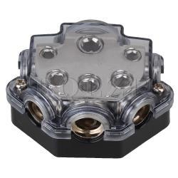 Car Audio 5 Ways Power Distributor Block Fuse Holder