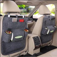 Car Auto Seat Back Multi Pocket Storage Bag Organizer Holder Hanger Accessory Set Of 2