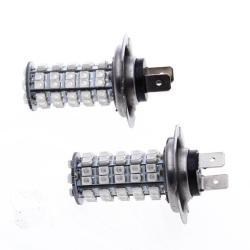Car H7 68 SMD LED Blue Fog Head Light Bulbs Lamp (2pcs)