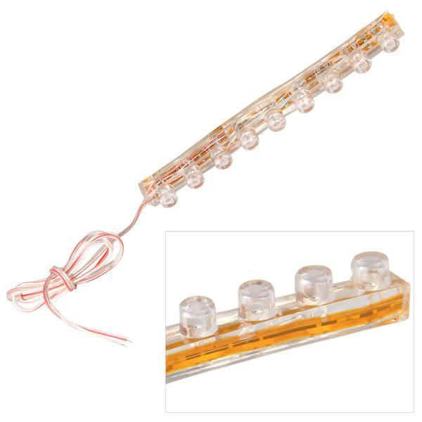 Car Motorcycle Red 9 LEDs Strip Waterproof Light Bulb 12V 35CM product preview, discount at cheapest price