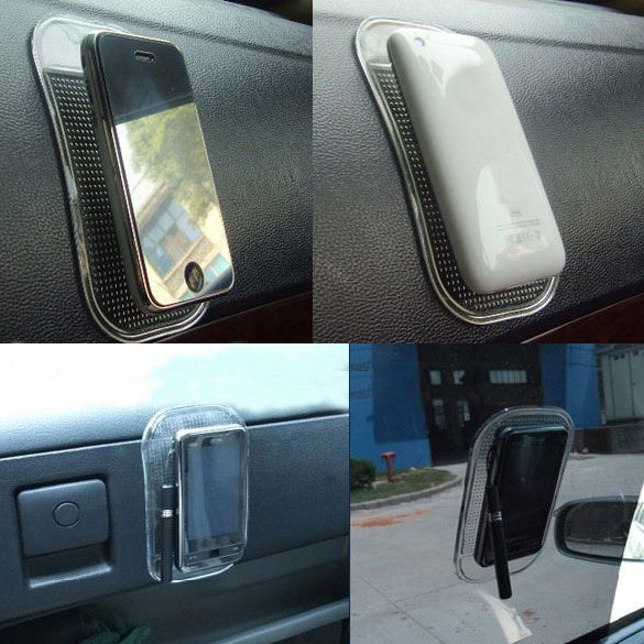 Car Non Slip Dash Mat Dashboard Phone Pad Key Holder - thumbnail