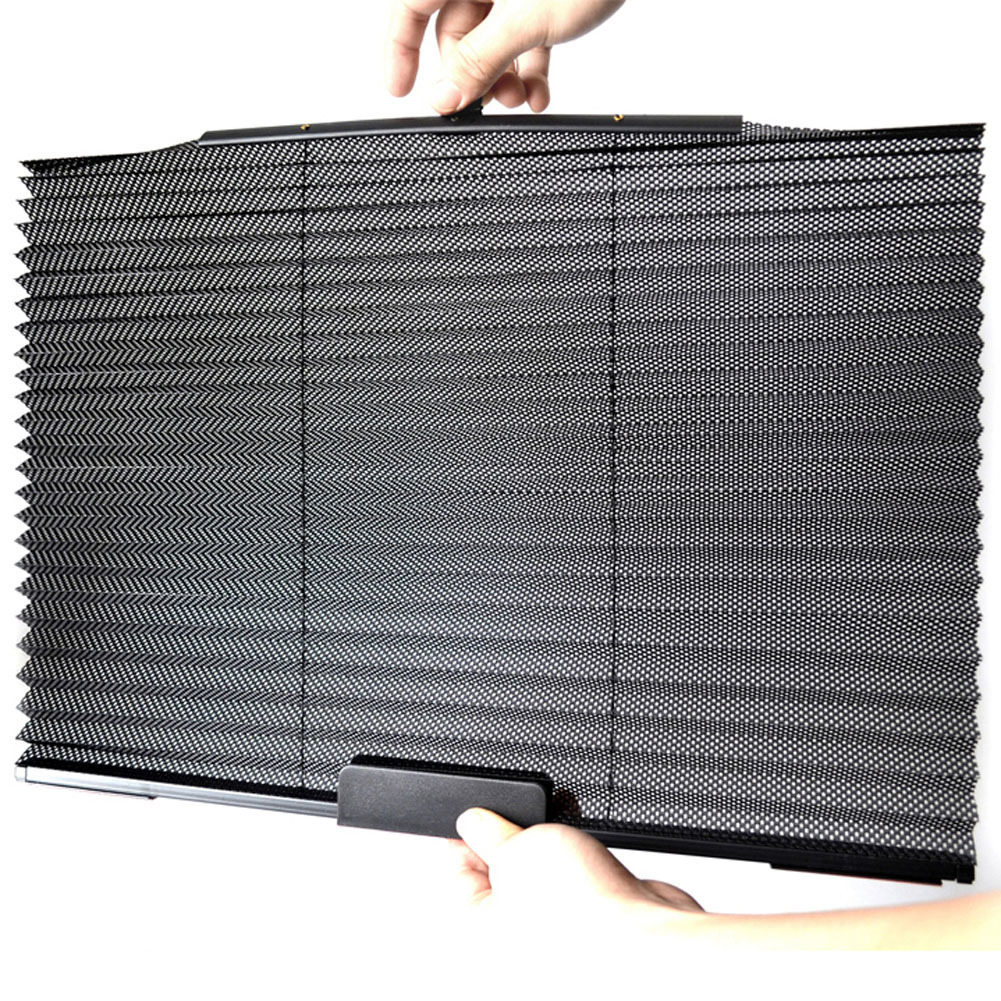 Car Retractable Window Sun-shading Curtain Heat-insulated Black - thumbnail