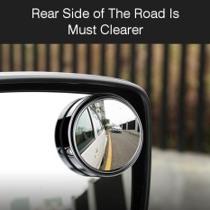 Car Vehicle Blind Spot Mirror Rear View Mirrors Hd Convex Glass 360 Degree View Adjustable Mirror Silver - Intl By Audew