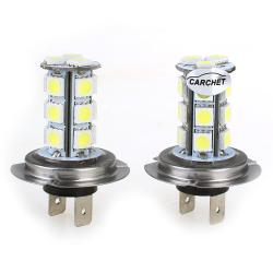 Car Vehicle H7 18 SMD LED Xenon White Light Bulbs Lamp (2pcs)