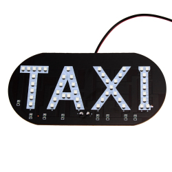 Car Windscreen Cab Sign Blue 1210 SMD 45 LED Taxi Light Lamp DC 12V