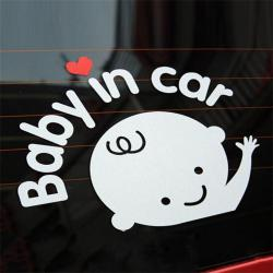 "Cartoon Car Stickers Reflective Styling ""Baby In Car"""