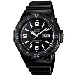 Casio Analog  MRW-200H-1B2VDF Black Rubber Strap Unisex Watch