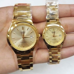 Casio Couple's Gold Toned Watch (His and Hers) MTP-1170N-9A and LTP-1170N-9A