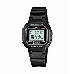 Casio Digital Standard Womens Black Resin Strap Watch LA-20WH-1ADF
