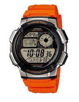 Casio Illuminator Men's Orange Resin Strap Watch AE-1000W-4BVDF (TH)