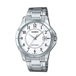 Casio Men's Silver Stainless Steel Strap Watch MTP-V004D-7BUDF