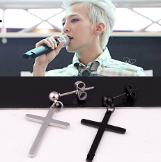 Men S Hip Hop Allergy Free Cross Ear Studs