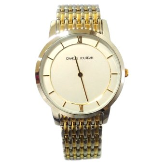 Charles Jourdan Light Two Tone Stainless Steel Strap Watch