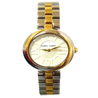 Charles Jourdan Lilac Two Tone Stainless Steel Strap Watch
