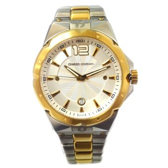Charles Jourdan Medal Two Tone Stainless Steel Strap Watch