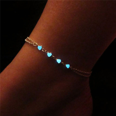 Chic Glow In The Dark Chain Anklet Ankle Bracelet Barefoot Sandal Beach Jewelry Multi - intl