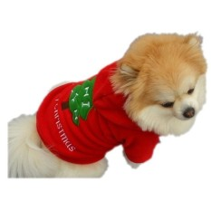 Christmas Pet Puppy Dog Clothes Santa Claus Costume Outwear Thick Coat ApparelXS - intl