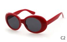 67f8a7d0de97 Clout Goggles NIRVANA Kurt Cobain Glasses 2017 Classic Vintage Retro White Oval  Sunglasses Alien Shades 90s