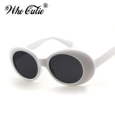 74b8adc7e8 Clout Goggles NIRVANA Kurt Cobain Glasses 2017 Classic Vintage Retro White Oval  Sunglasses Alien Shades 90s