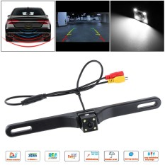 Cmos Waterproof Car Rear View Reverse Backup Square Camera Night Vision With 4 Led - Intl By Epathchina Store.