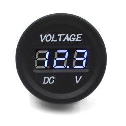 Console Car Motorcycle Digital Display DC Voltmeter Blue Light