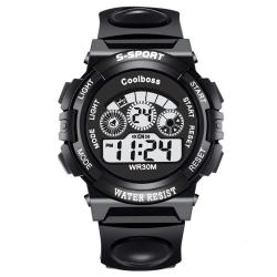COOLBOSS Stylish Sports Digital Wristwatch [BLACK]
