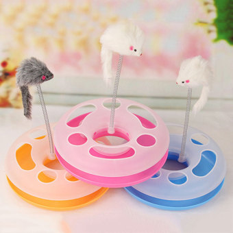 Creative Pet Cat Spring Mice Crazy Multifunctional Disk PlayActivity Toy - intl .